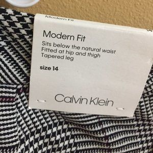NWT - Calvin Klein Houndstooth Trousers